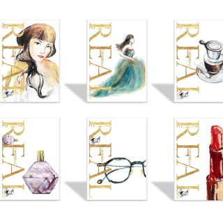 CL Fashion Illustrator Postcard - Live Edition Cinderella