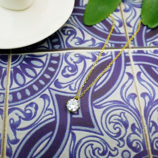 Joker simple zircon diamond necklace