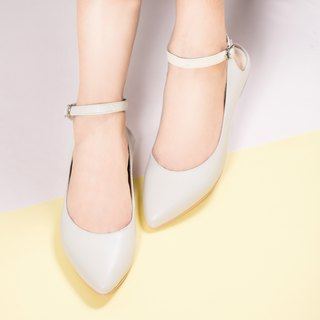 Pointed 踝 flat shoes _ meters