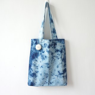 S.A x Blue Bells, Indigo dyed Handmade Natural Pattern Tote Bag