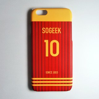 SO GEEK phone shell design brand THE JERSEY GEEK shirts back number Customized paragraph 053