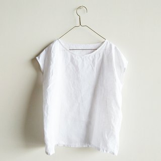 Small sleeves, linen, white