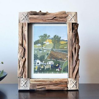 Handmade wood frame photo frame