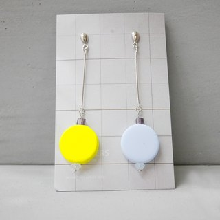 Marshmallow Jumbo Four Earrings - 001