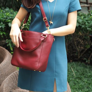 Honey (wine red) Tote bag, Cow Leather bag