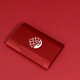 Willingness business card holder - red map exhibition version