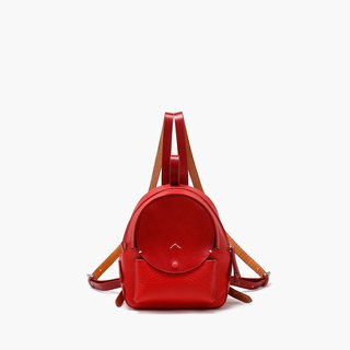 Bodhi says FOSTYLE vegetable tanned leather handmade leather new moon shoulder bag college wind is red
