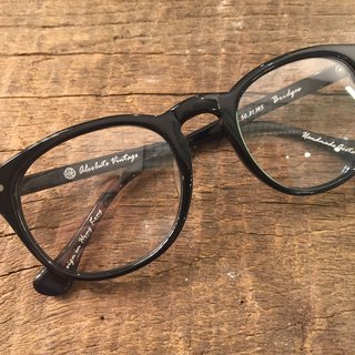 Absolute Vintage - Bridges Street (Bridges Street) pear-shaped plate frame glasses Young - Black Black
