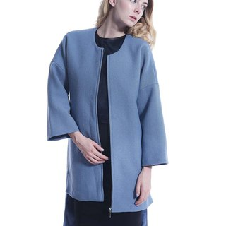 Chuijian elegant powder blue cotton jacket (metallic color stone beads)