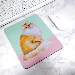 Cute Cat Mouse Pad Pretty Desk Mat Animal Illustration Office Supplies