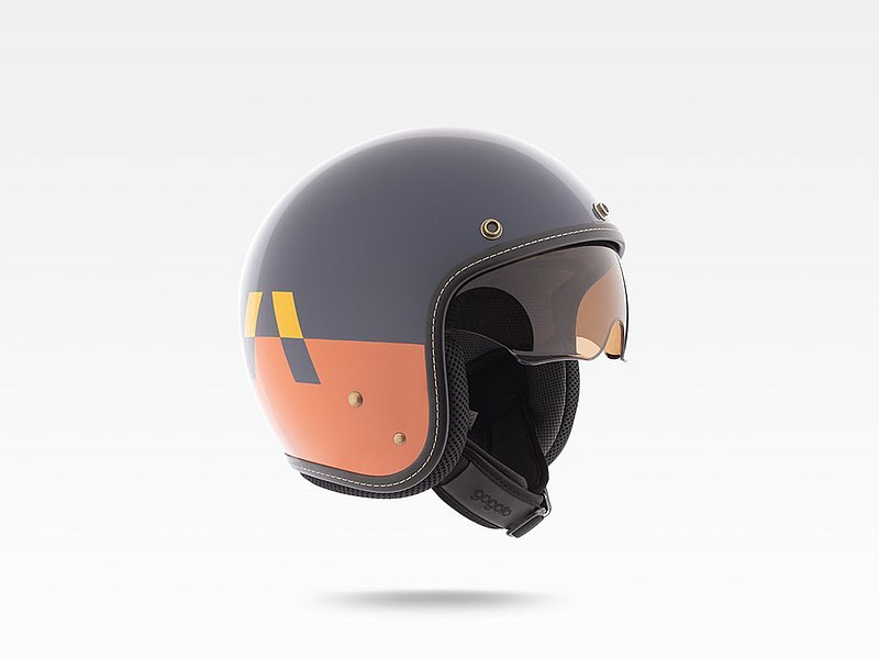 Gogoro original helmet mix and match cool jazz L and XL for riding fun