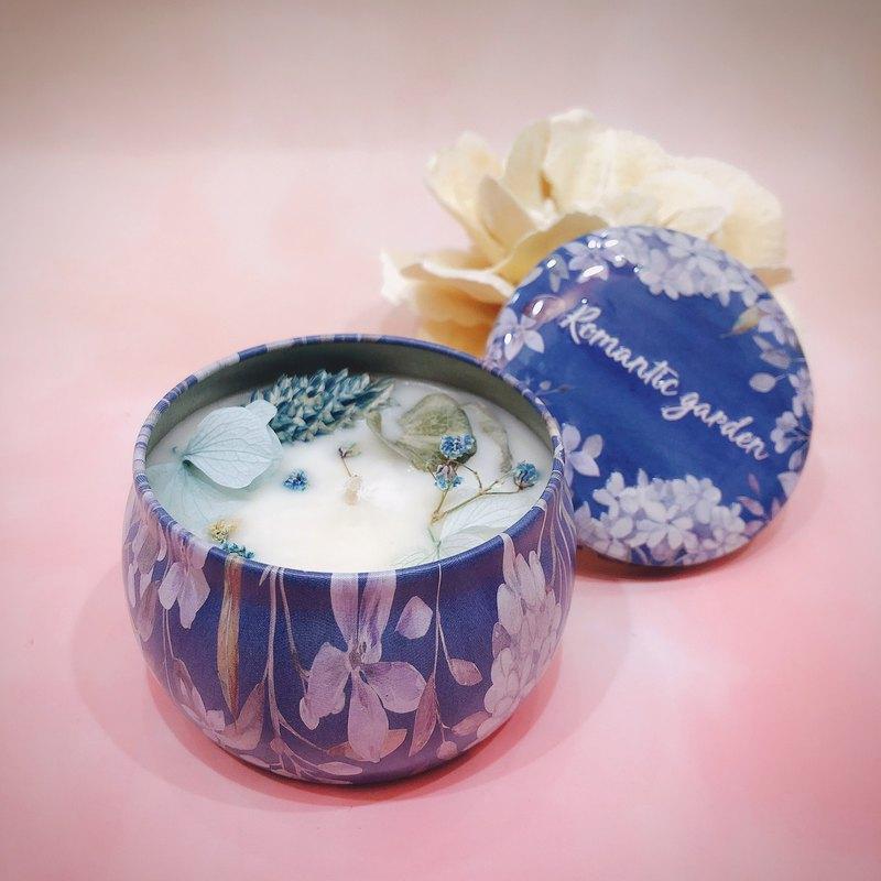 乾燥花精油大豆蠟燭-1入禮盒
