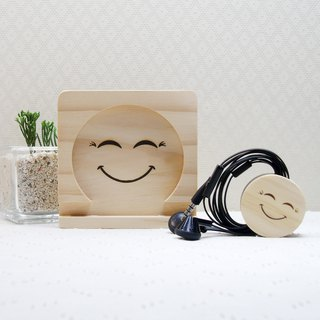 Sister smile happiness mobile phone coaster set line clip custom guest word