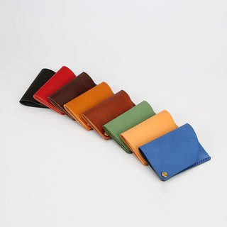 [Cutline] Rotary business card package super convenient card package handmade leather business card holder