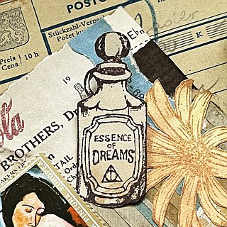 Hand- drawn stamp The essence of Dreams