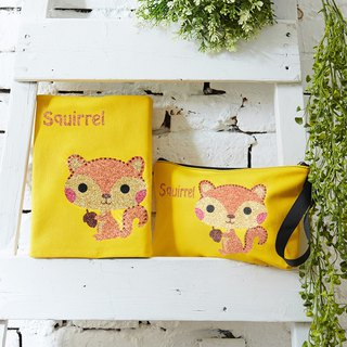 Adorkable series fabric book cover&makeup bag-Squirrel