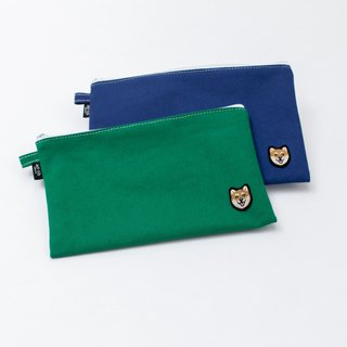 【Pjai】Big Pouch - Navy//Green (PU300)