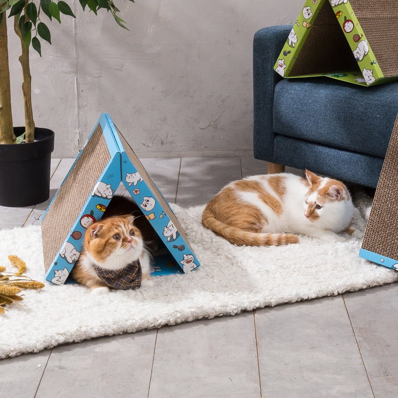 Tent Cat Scratching Board - Lake Blue (The First Port sells camping essential fever products)