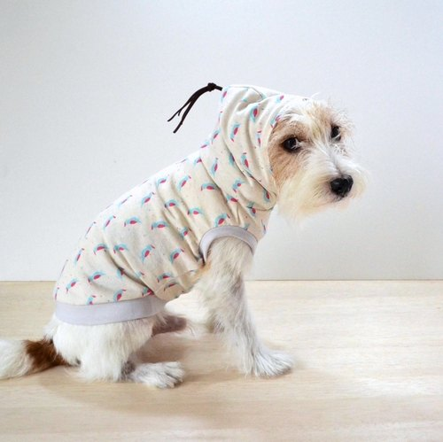 Dog Hoodie BOHO chic Parrot