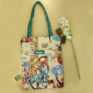 Stephy Designer  Dancing Party Canvas Tote Bag / Shipping Bag