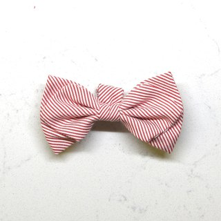 Handmade Classic Striped Pet Dog Collar Accessory - Bowtie - Fresh Red【ZAZAZOO】