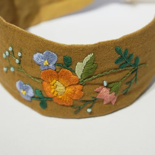 Lu Lita original design manual three-dimensional embroidery hair band heavy work European embroidery Japanese cotton hemp headband can be customized