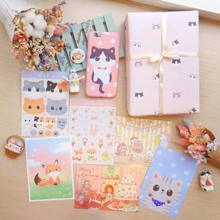 Goody Bag - illustration mobile phone shell / wooden frame painting value Fubao blessing bag