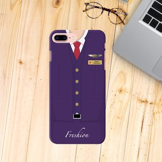 Custom Hong Kong Airlines Air Steward Fight Attendant iPhone Samsung Case