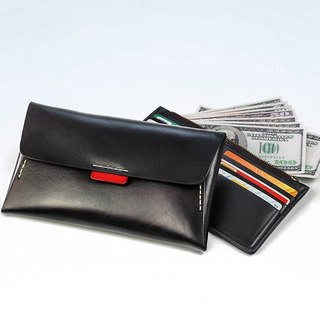 Retro Long Wallet, Simple Long Folder Wallet, Handmade Envelope Bag Women Clutch