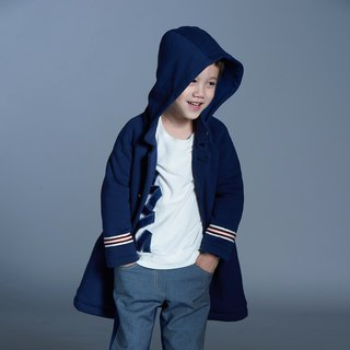 Royal Hooded Coat (Blue / Dark Green)