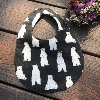 Polar Bear <Black> Double Side Bib
