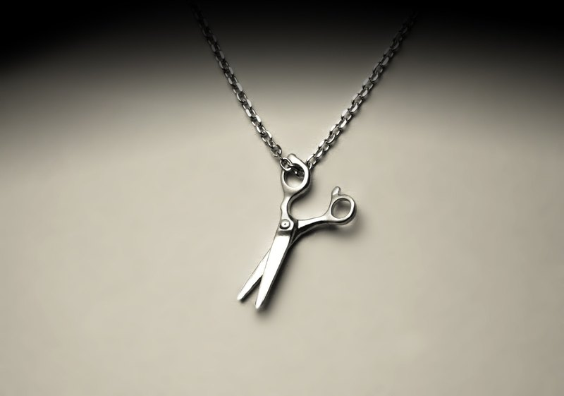 Small scissors necklace