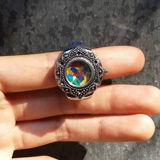 【Lost And Find】Natural gemstone ring watch