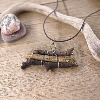 Upcycling, Eco, Natural, tree branches, wood necklace  - natural wood