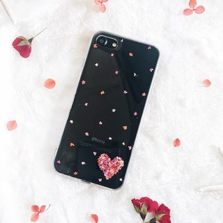 爱心干花手机壳 • Handpressed Flower Phone Case