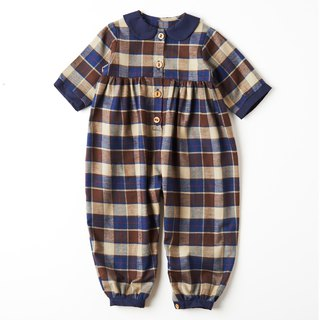 Handmade in Britain - WHAT MOTHER MADE - Coffee Plaid Jumpsuit