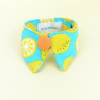 Lemon dog cat button collar