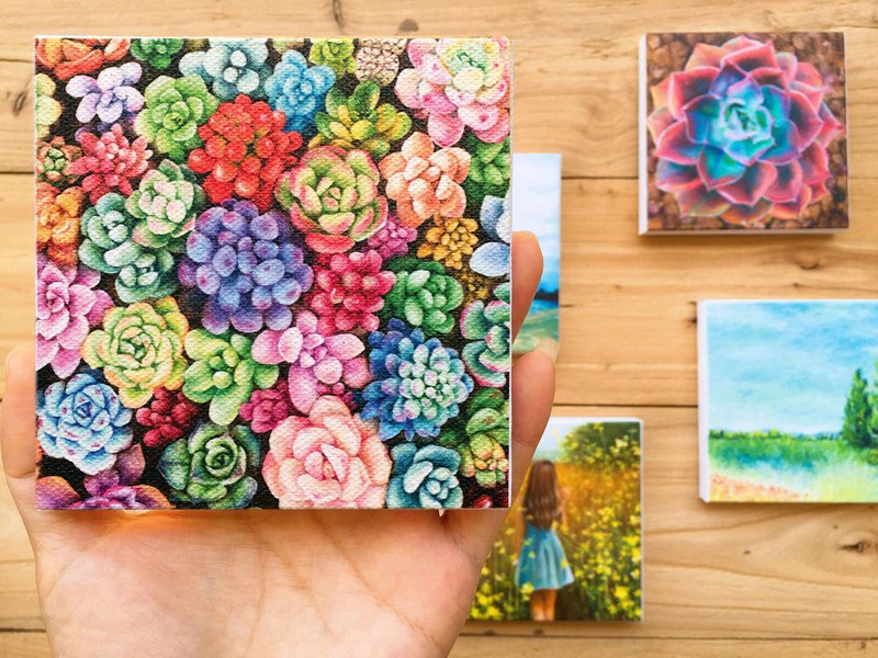 【多肉】小型藝術微噴 | 繽紛盆栽藝術 | 植物畫作現代裝飾