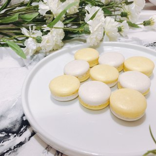 Lemon French hand made macaron