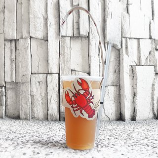 Modeling accompanying beverage cup set bag - lobster