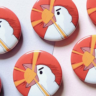 Wen bird laser cannon _ light orange badge / badge / pin / brooch