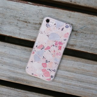 Original Pink Terrazzo Phone case (iPhone,Samsung) with hard shell frosted