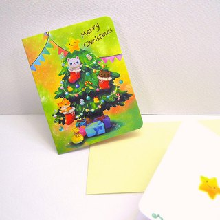 Christmas tree card (Christmas card)
