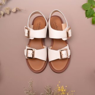 1655 handmade sandals simple white