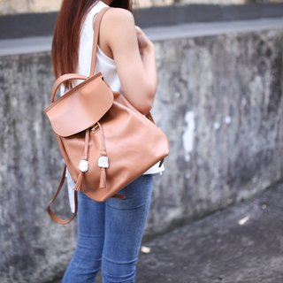 SL original stone series (mini version). Light brown leather / Italian leather / shoulder bag / dual-use bag / shoulder bag / summer color