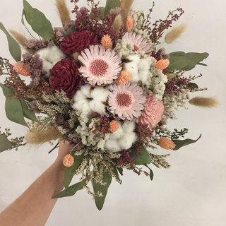 Dry bouquet | red pink dry flowers | bridal bouquet | photo bouquet