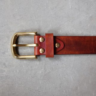Hand-dyed leather belt 3.8cm - Tailored