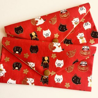 Piglet welcome new red bag - red bottom wedding horizontal storage bag sanitary cotton storage bag passbook bag