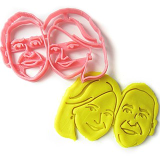Custom Couple Face Cookie Cutter, Personalized with Lovers Portrait