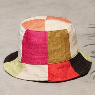 Limited to a natural forest wind splicing hand-woven cotton hat / fisherman hat / sun hat / patch cap / handmade hats / mountain hats - spring color fisherman hat